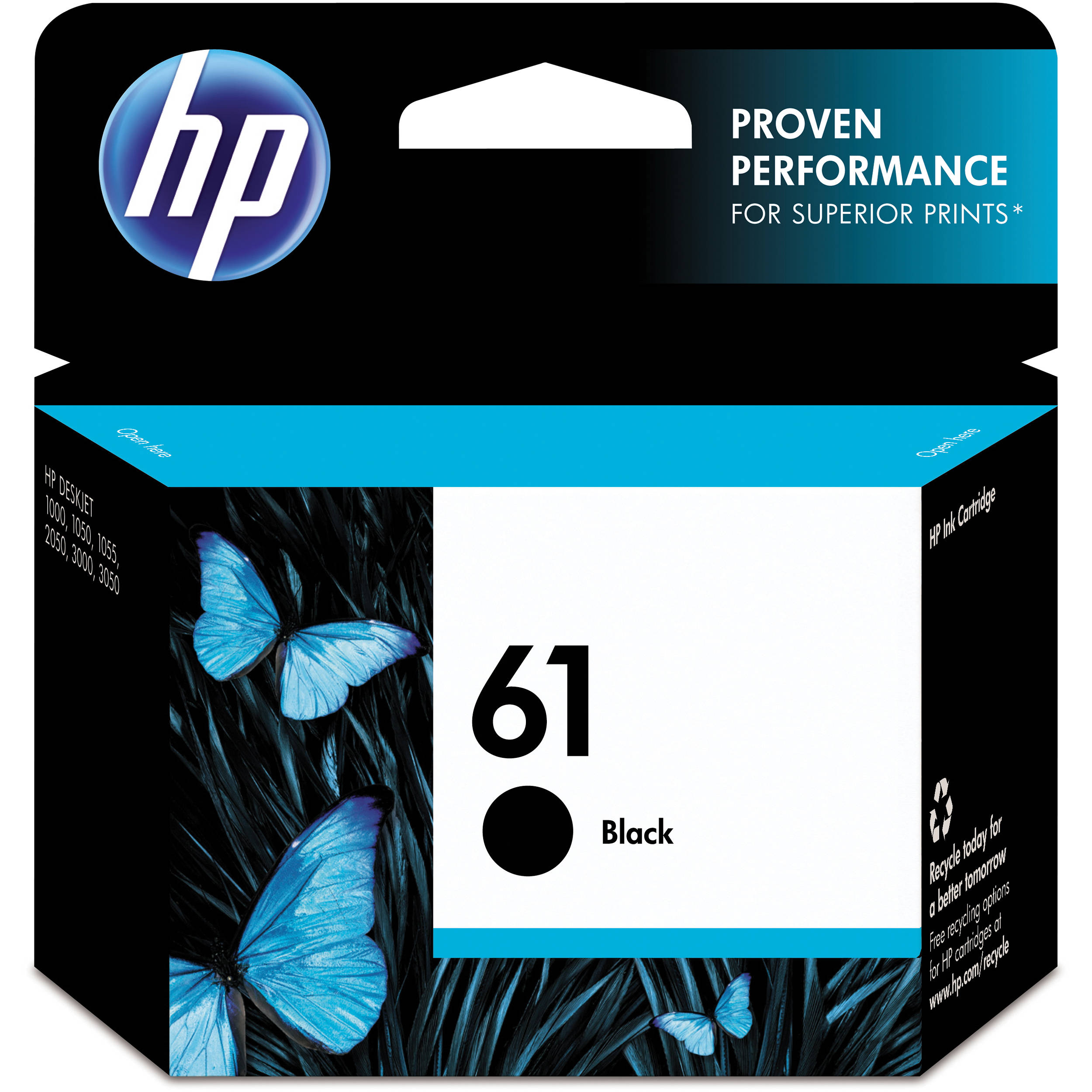 Hp 61 Black Ink Cartridge Ch561wn 140 B Amp H Photo Video
