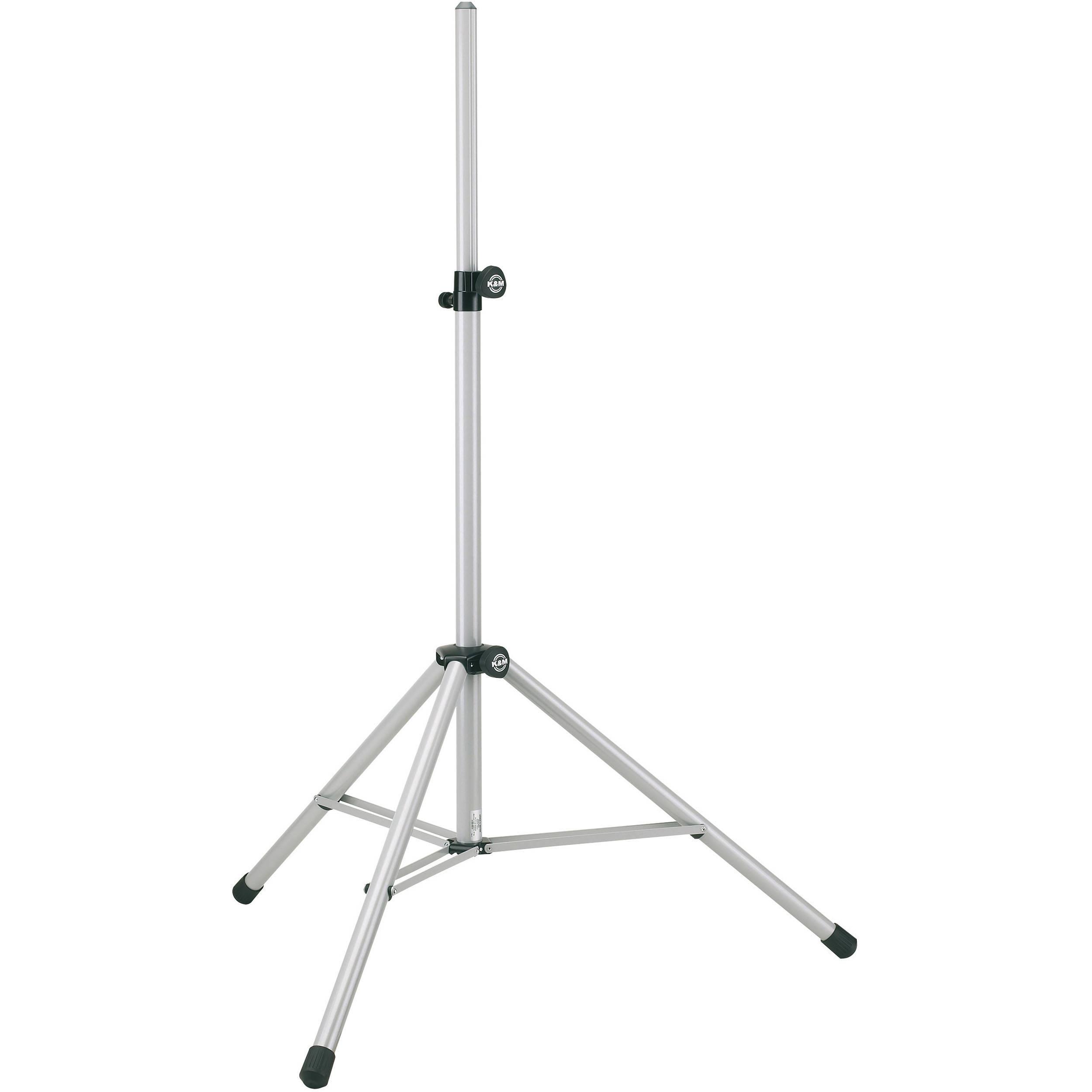 K&M 214/6 Adjustable Speaker Stand (White) 21460-177-57 B&H