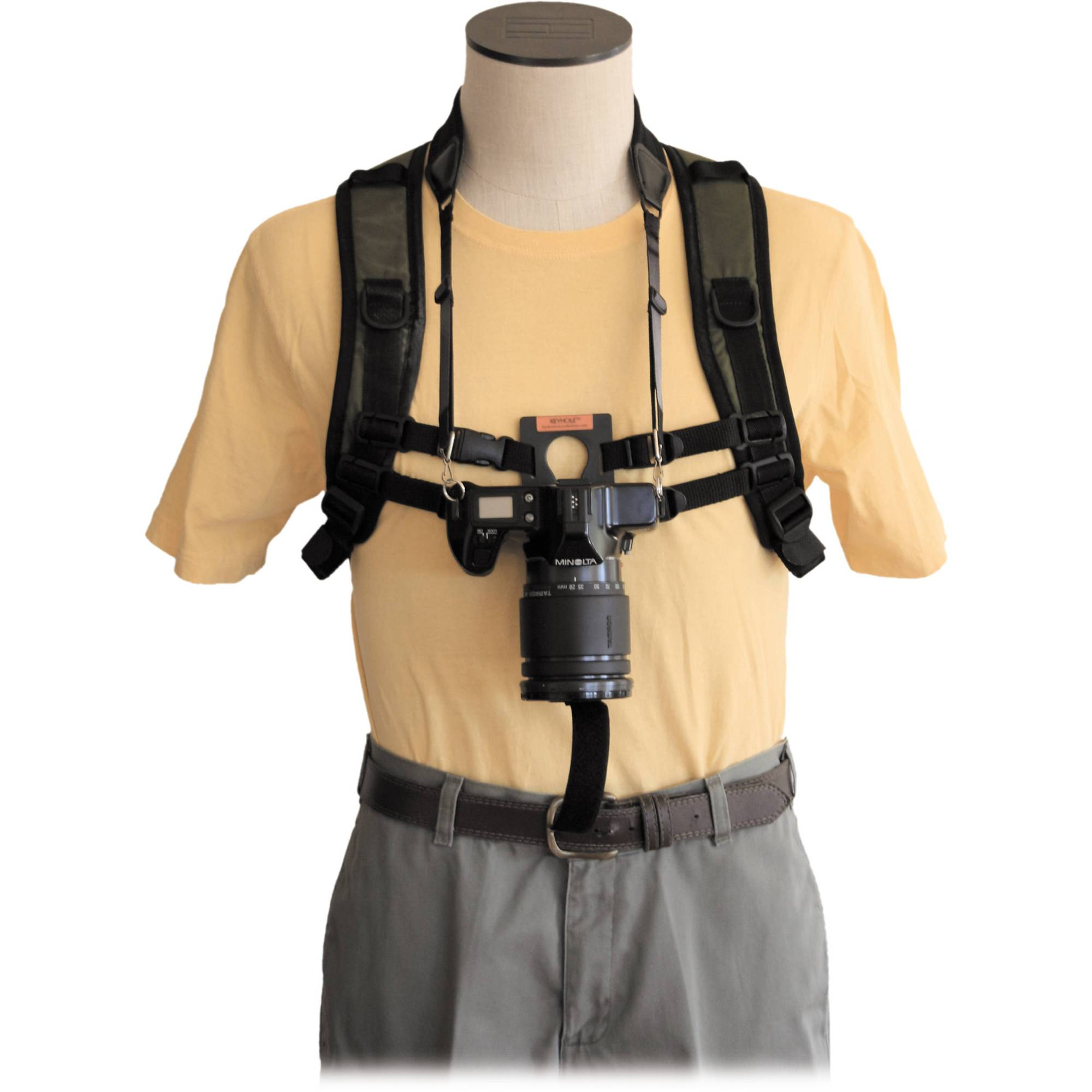 hight resolution of keyhole keyhole hands free camera harness black