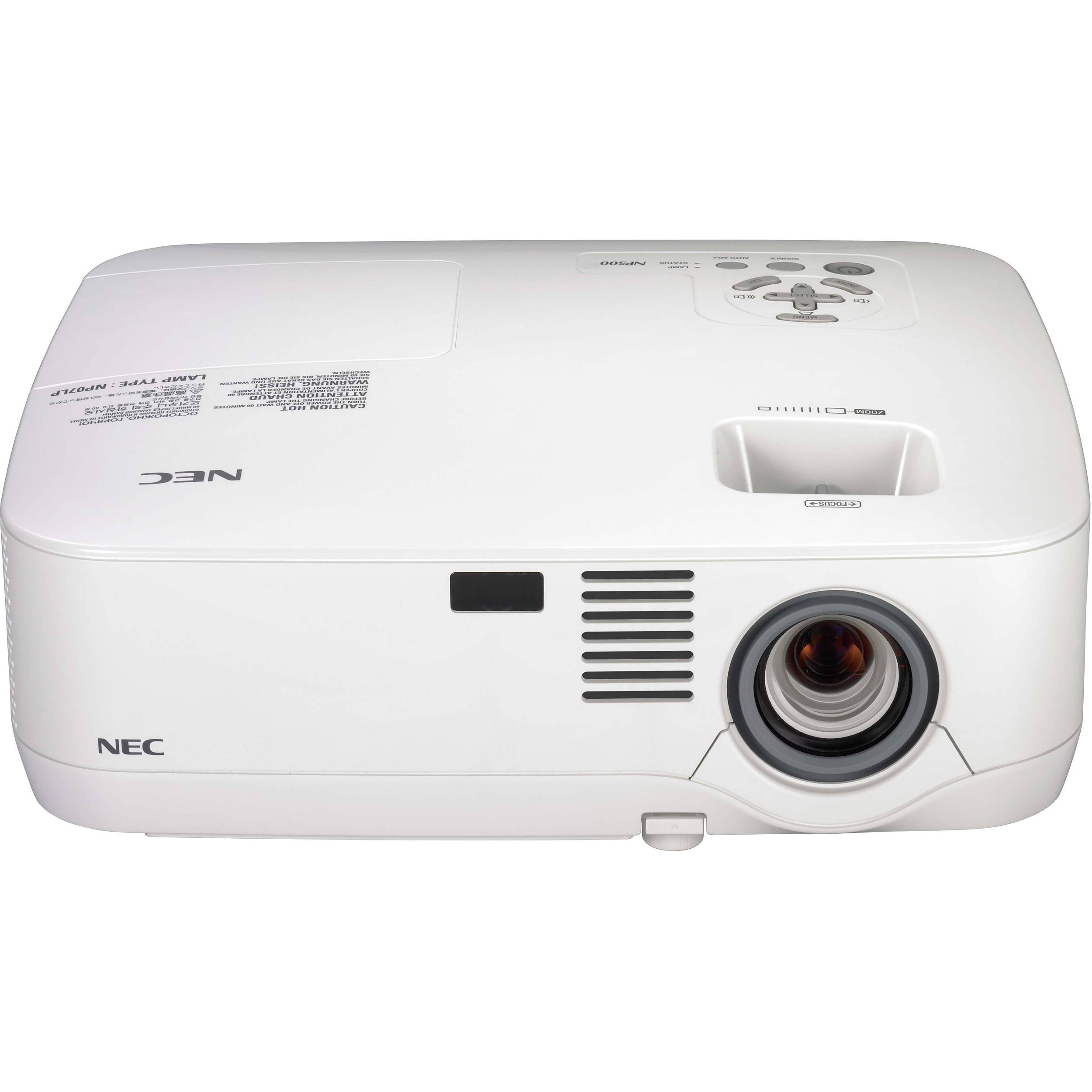 NEC NP500 LCD XGA 3000 Lumens Projector NP500 B&H Photo Video
