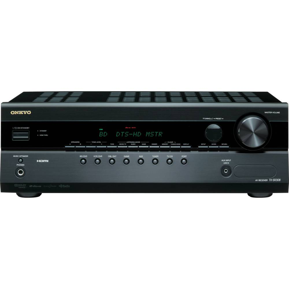 medium resolution of onkyo tx sr308 5 1 channel a v home theater receiver