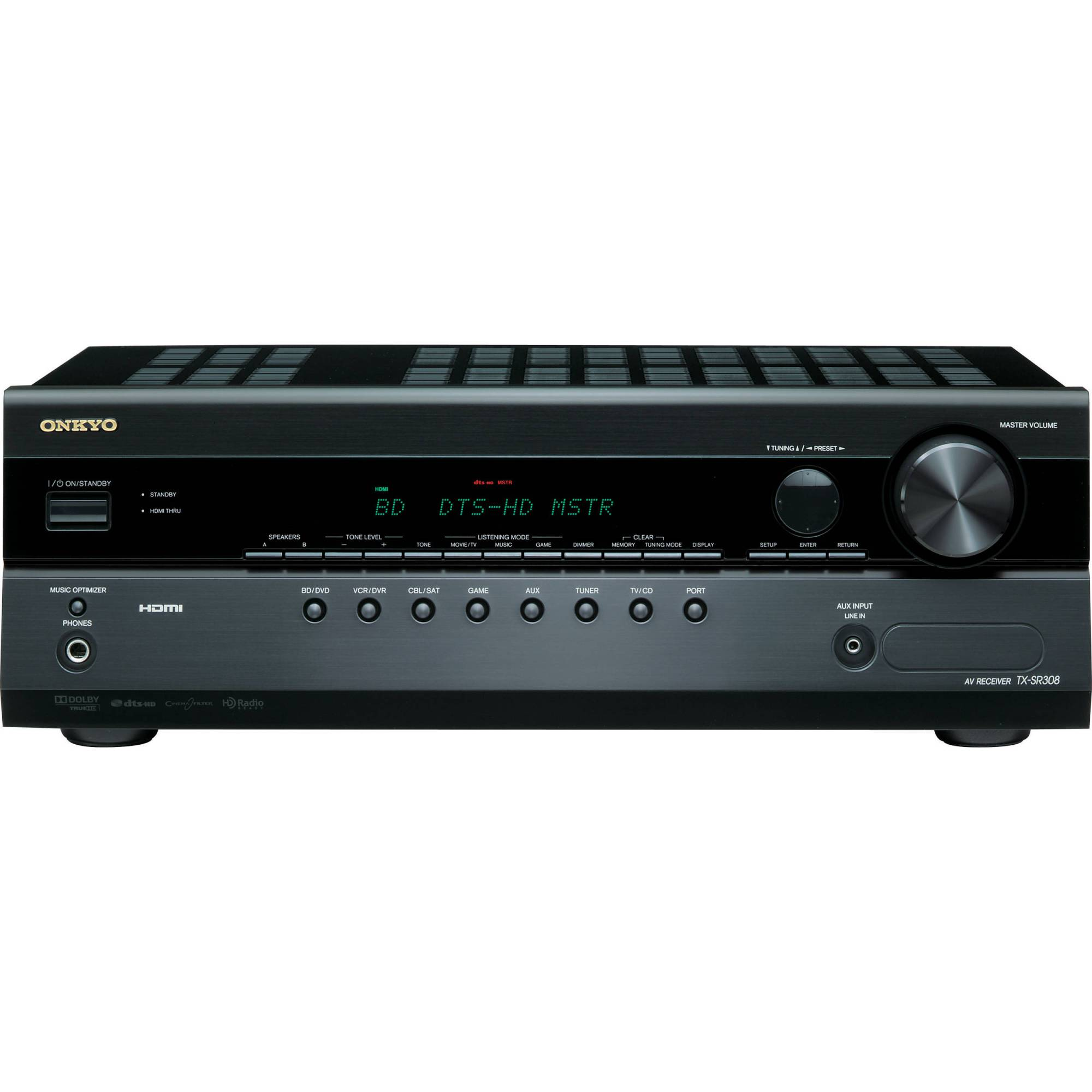 hight resolution of onkyo tx sr308 5 1 channel a v home theater receiver