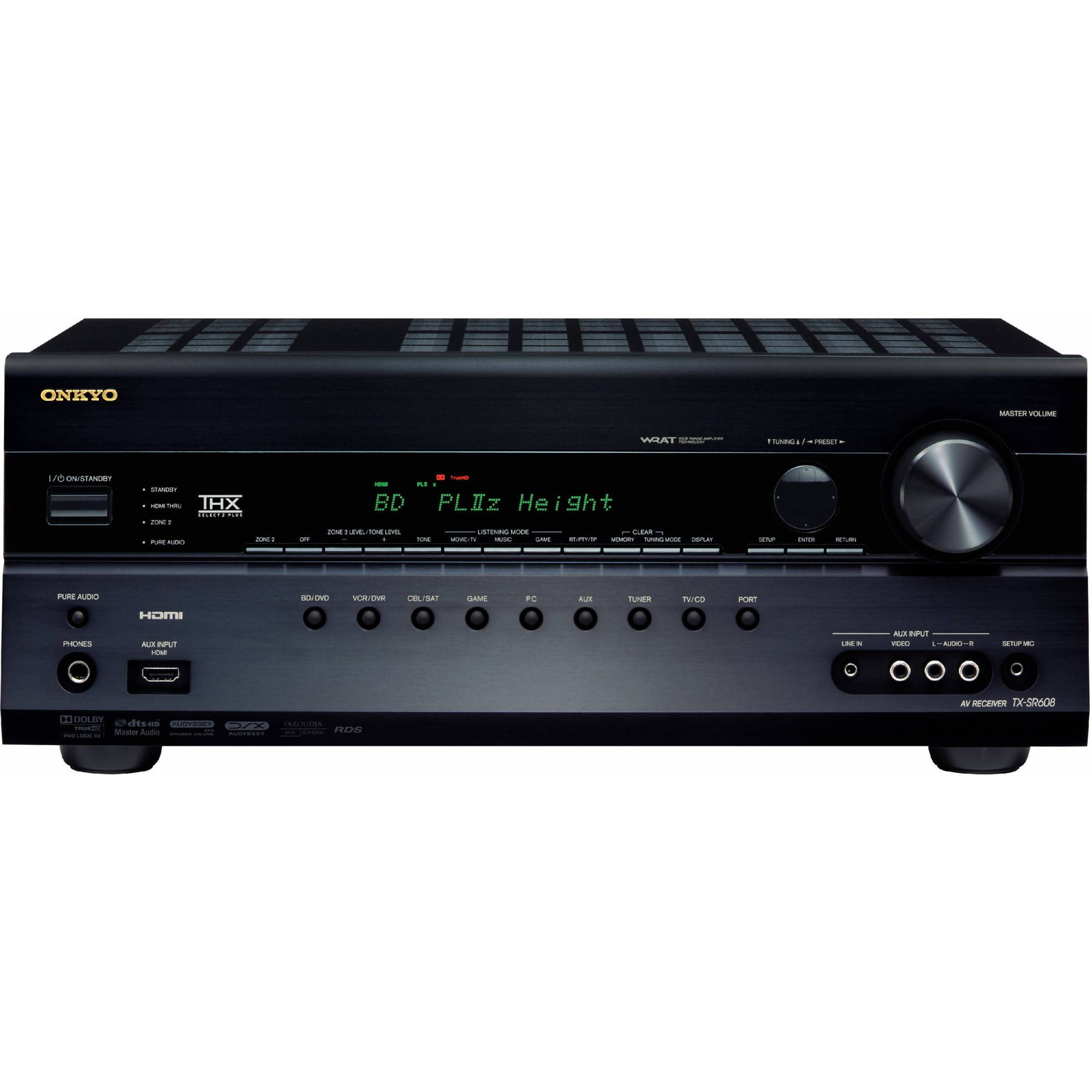hight resolution of onkyo tx sr608 7 2 channel home theater receiver