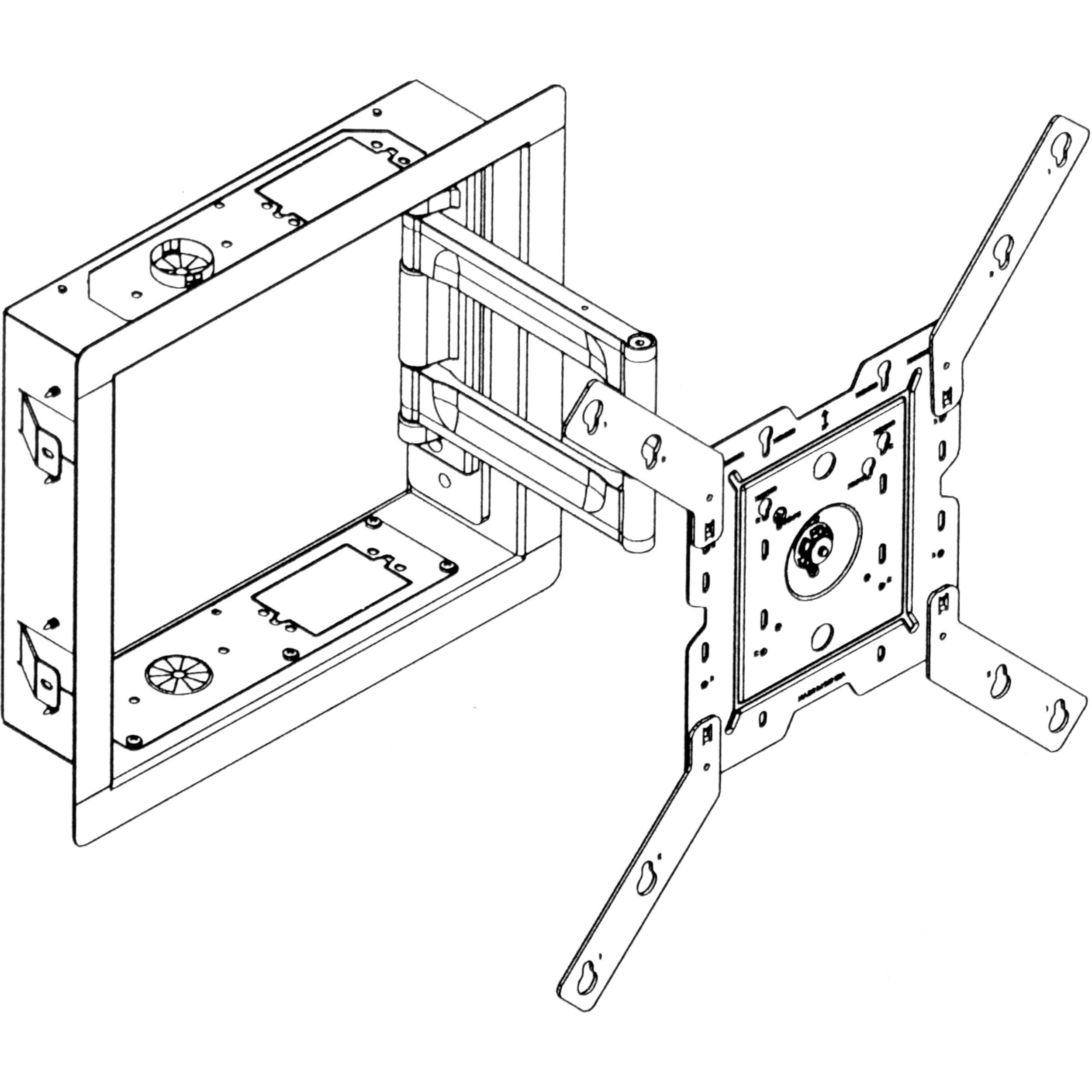 Peerless Av Ib40 W In Wall Box For Lcd Screens White Ib40 W