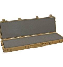 pelican 1720 long case with foam desert tan  [ 2500 x 2500 Pixel ]