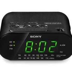 sony icf c218 am fm clock radio black  [ 2500 x 2500 Pixel ]