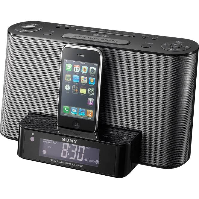 Sony Icf Cs10ipblk Ipod Iphone