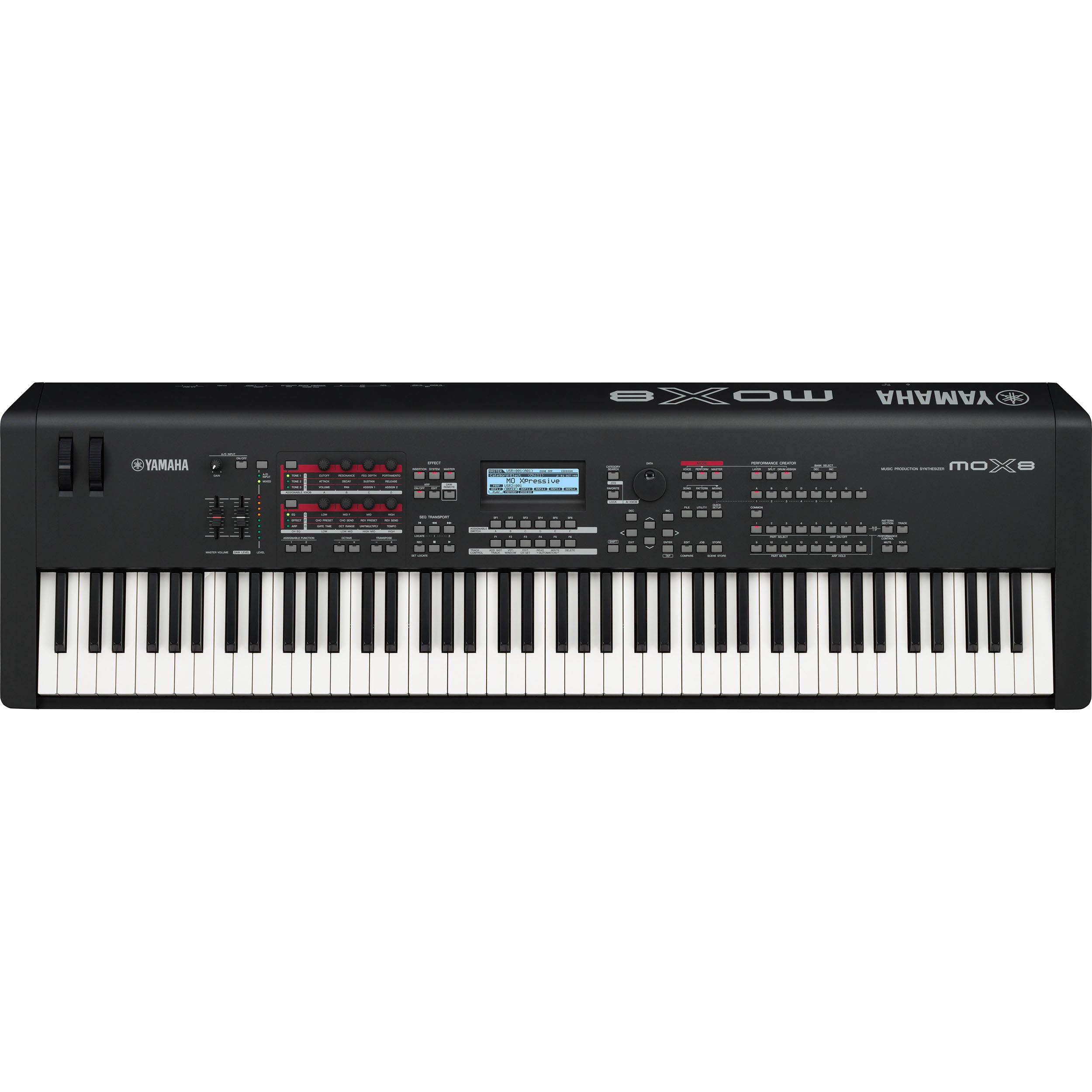 88 key piano keyboard diagram editable puzzle yamaha mox8 synthesizer workstation b andh photo