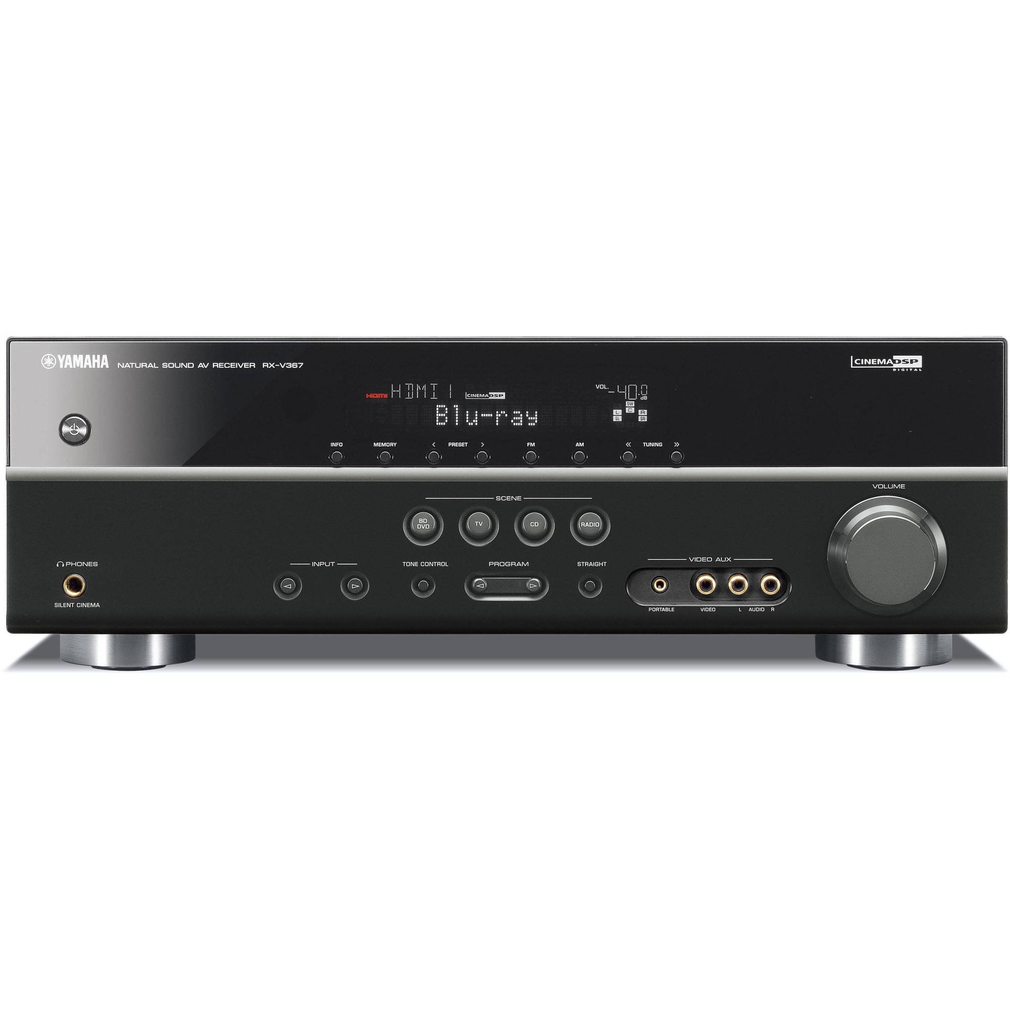 hight resolution of yamaha rx v367 5 1 channel home theater receiver