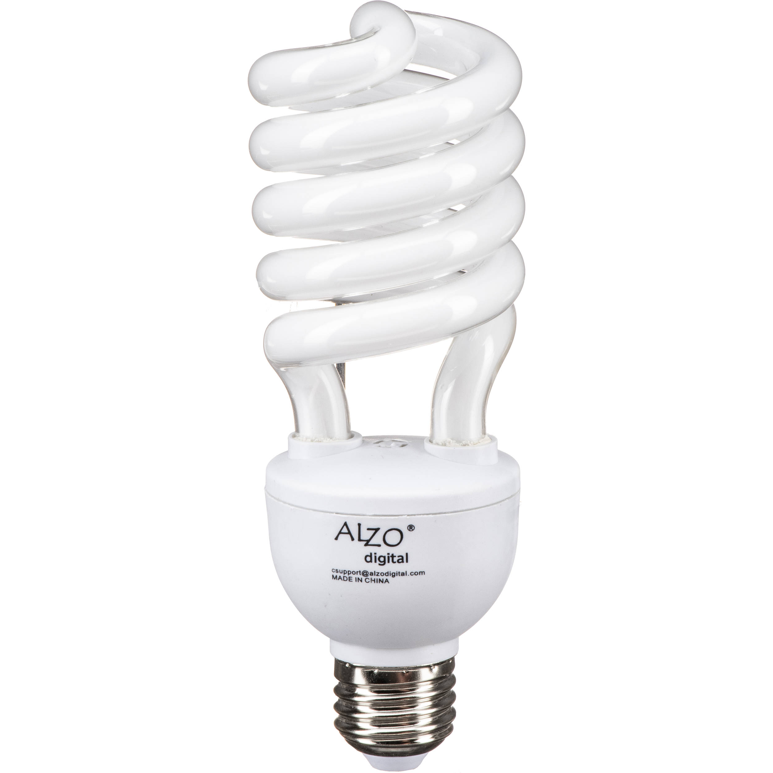 Alzo Cfl Photo Light Bulb 27w 120v 55 B Amp H Photo Video