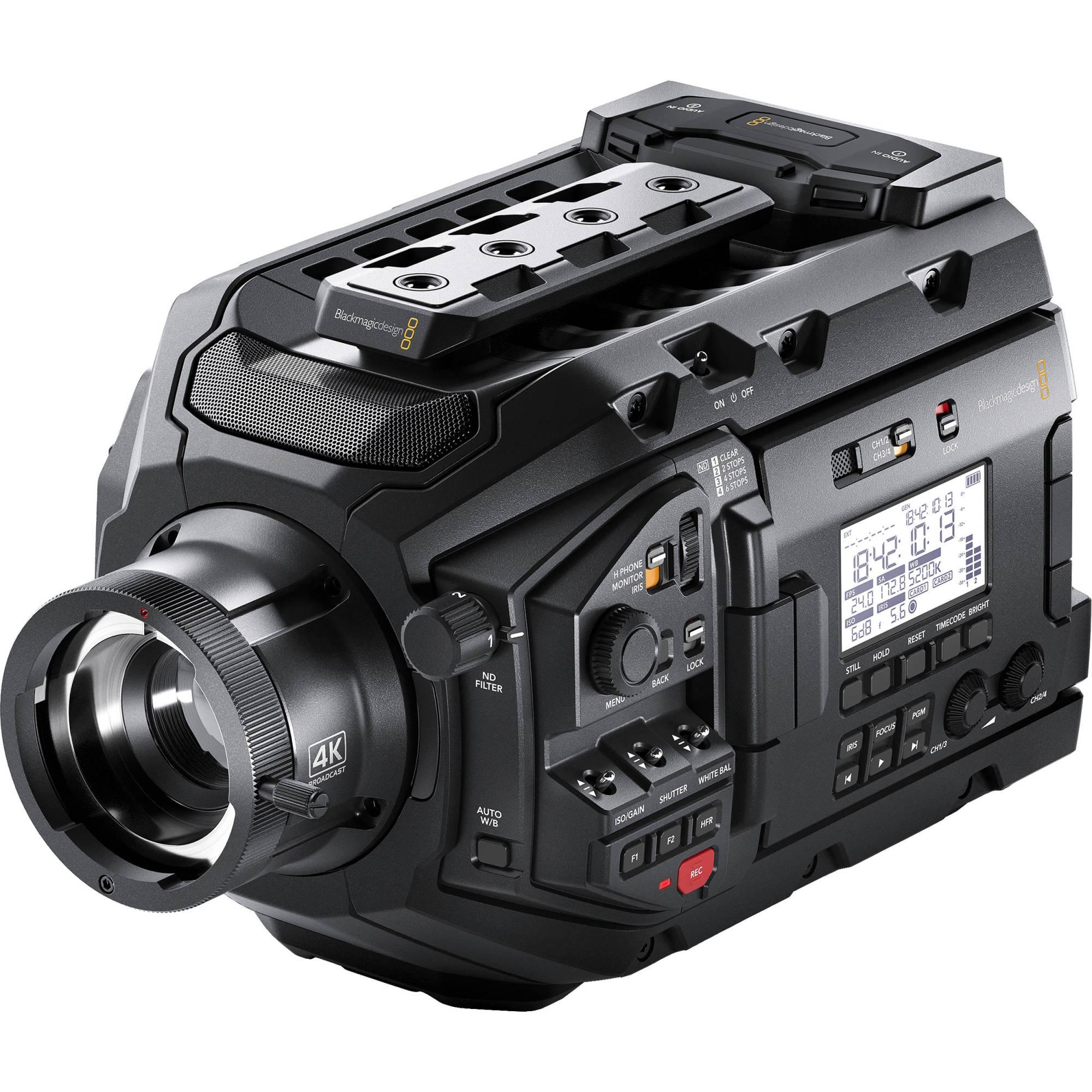 hight resolution of blackmagic design ursa broadcast camera