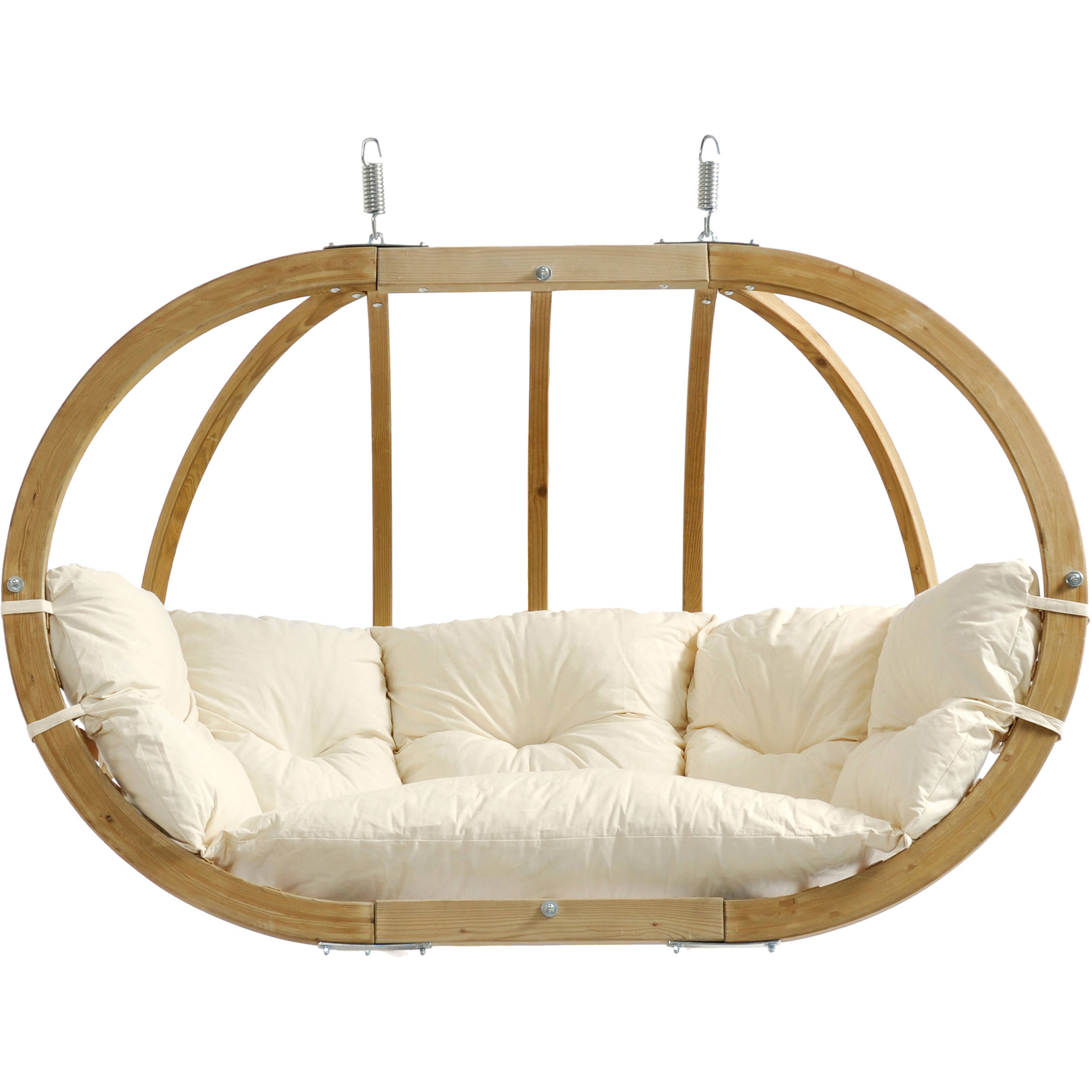 hanging chair double resin outdoor chairs byer of maine globo royal natural