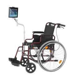 Ipad Stand For Chair Salon Rental Cta Digital Adjustable Wheelchair Mount And Pad