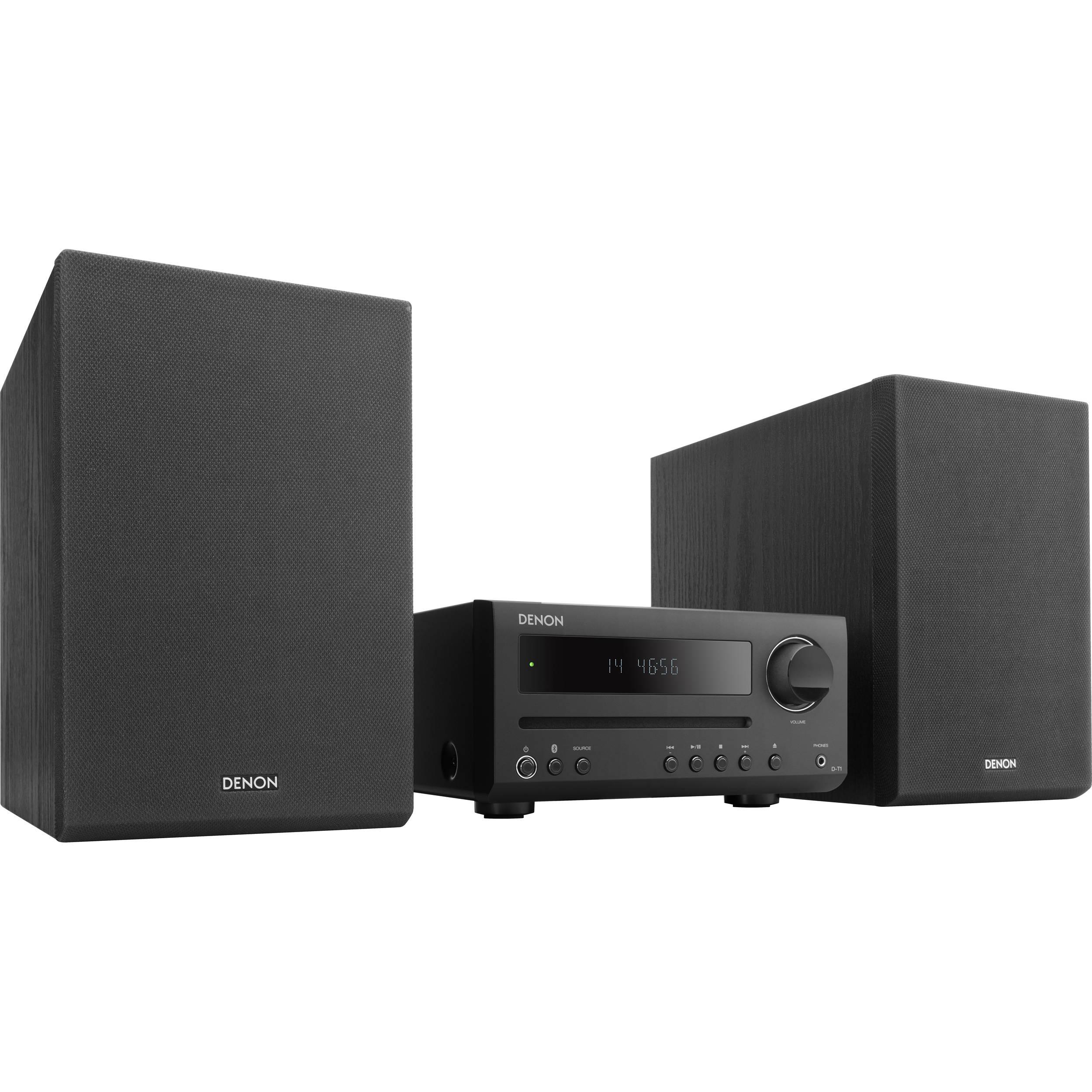 Denon D-T1 30W Bluetooth Wireless Music System DT-1 B&H Photo