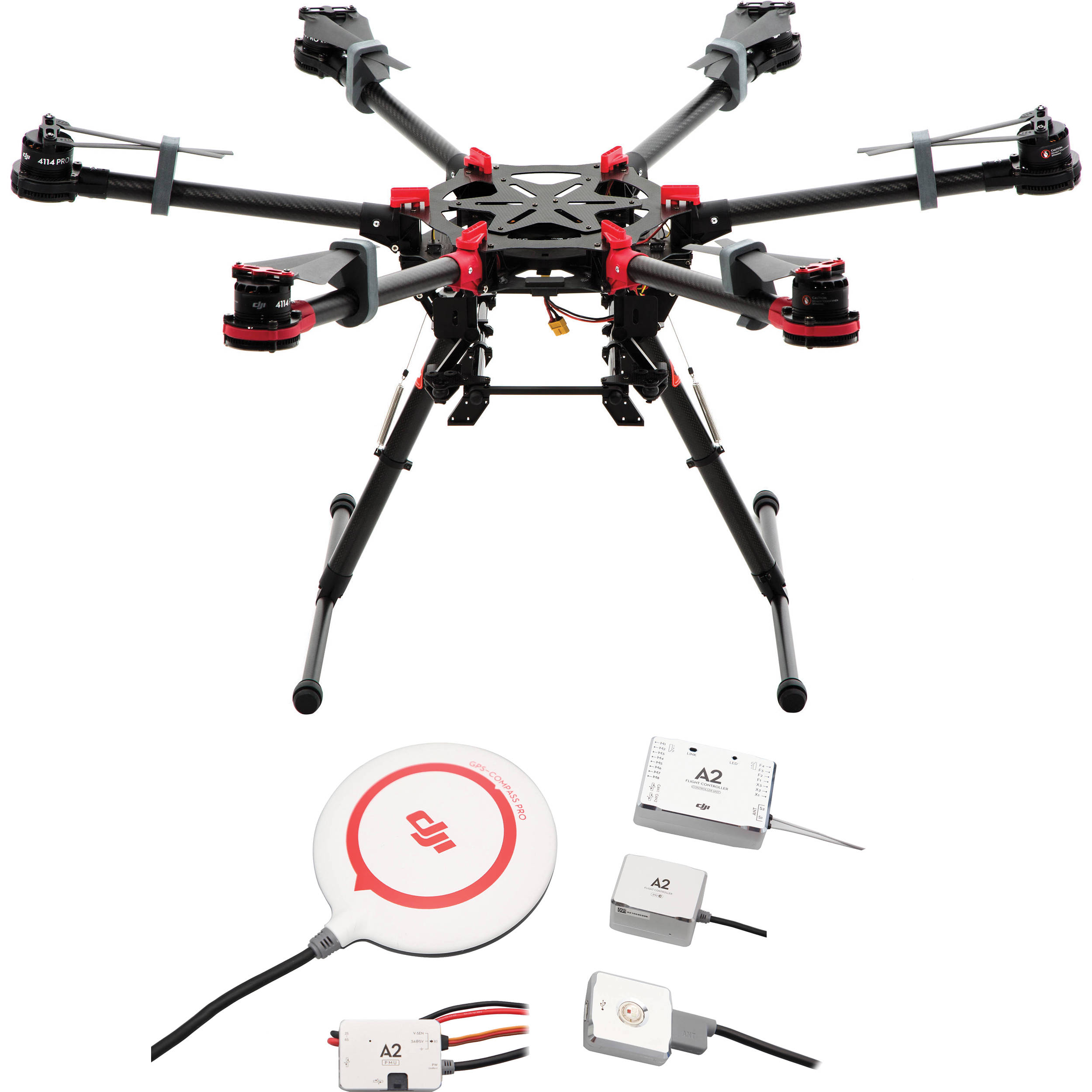 DJI Spreading Wings S900 Hexacopter with A2 Flight CB.SB
