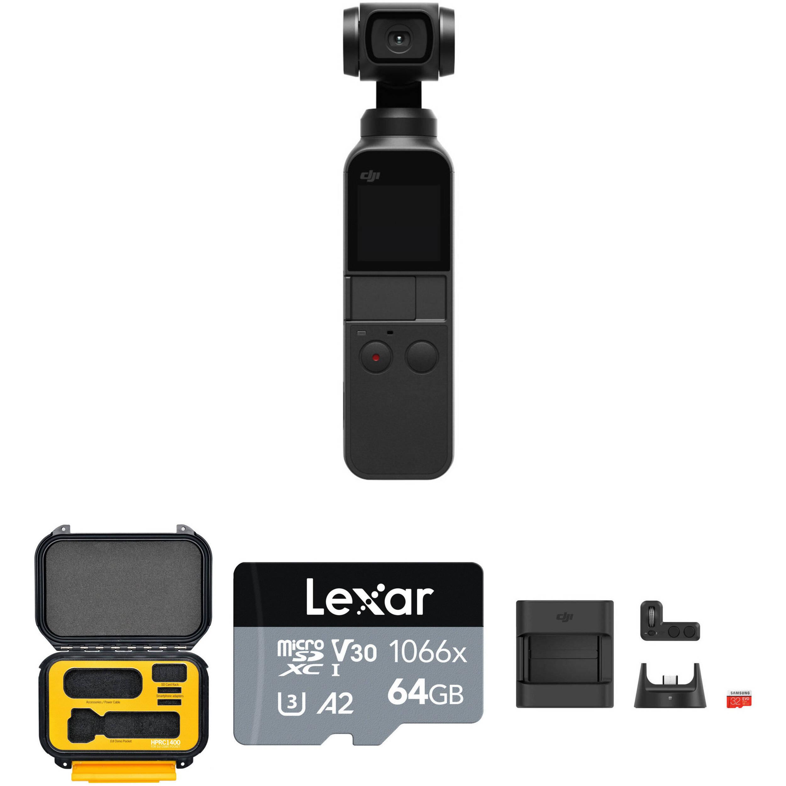 DJI Osmo Pocket Gimbal Kit with HPRC1400 Hard Case B&H Photo