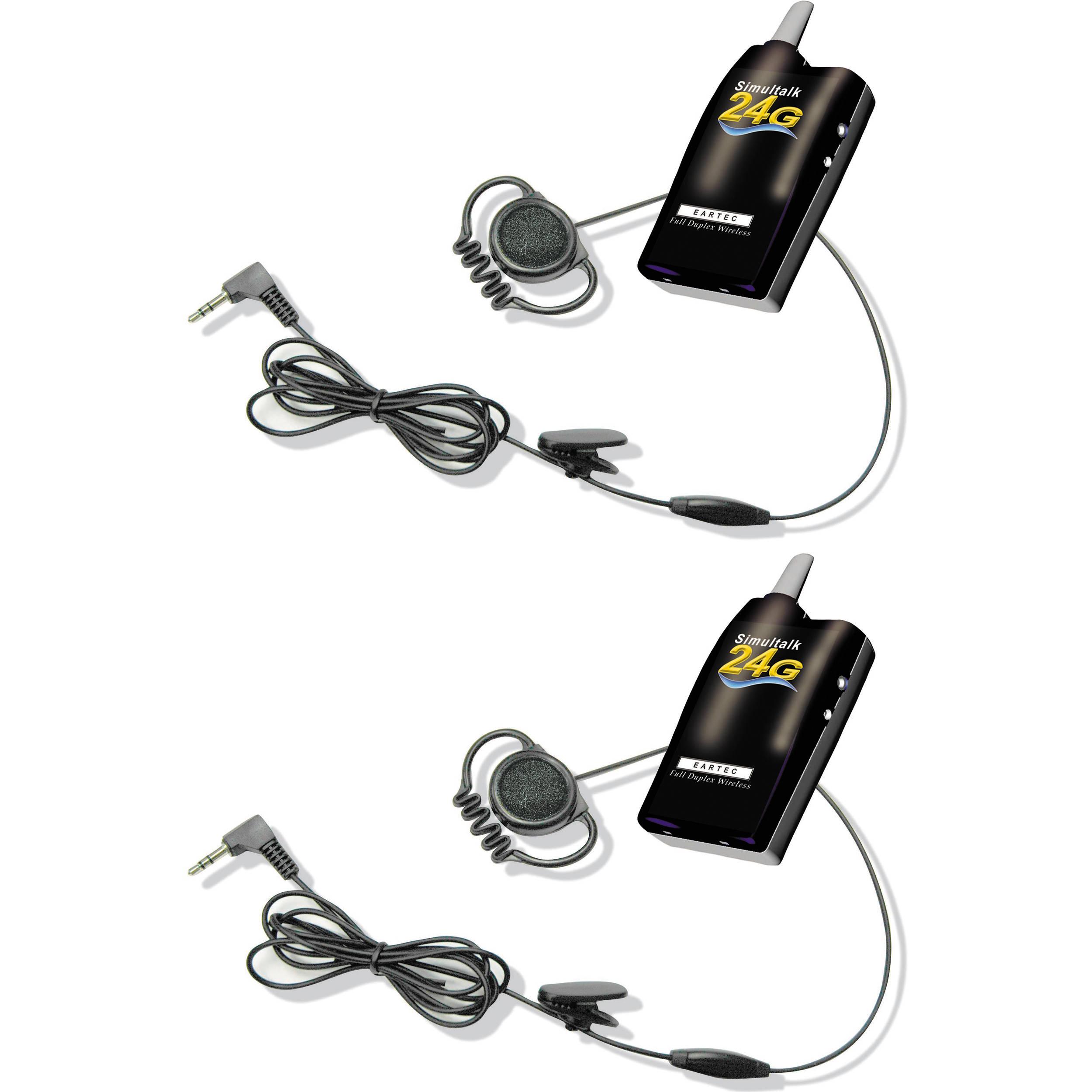 Eartec Simultalk 24G Beltpacks with Loop Headsets