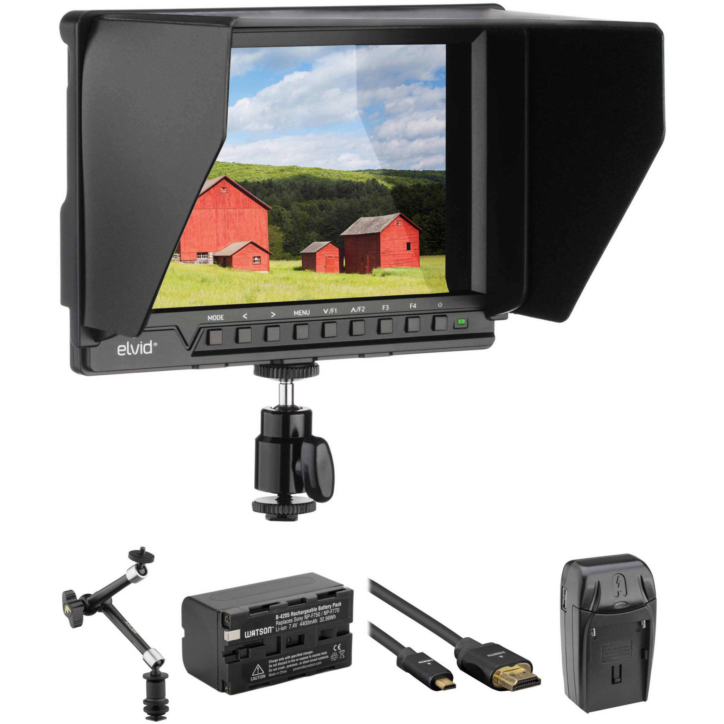 Camera Monitor Operated Battery