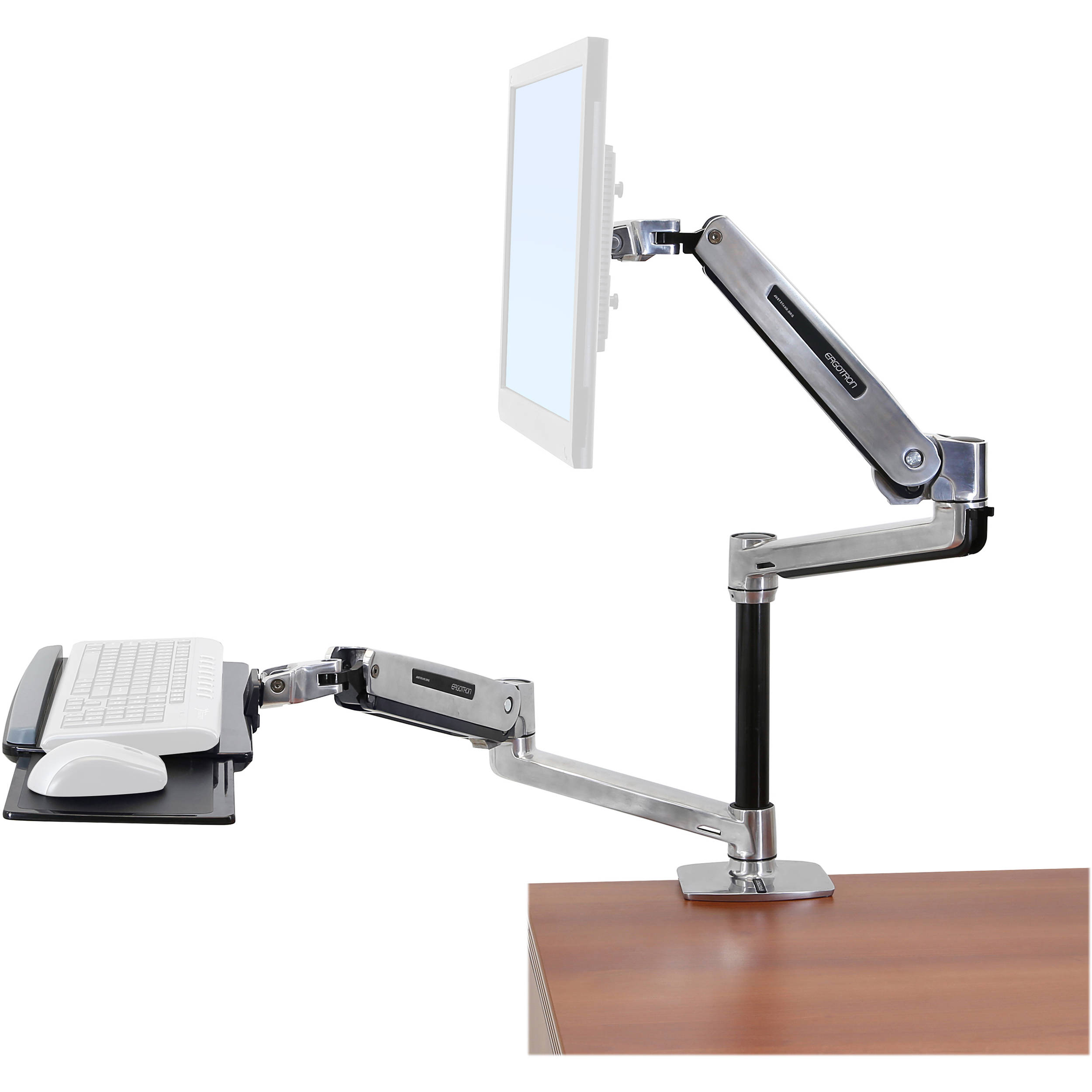 Ergotron WorkFitLX SitStand Desk Mount System 45405026 BH