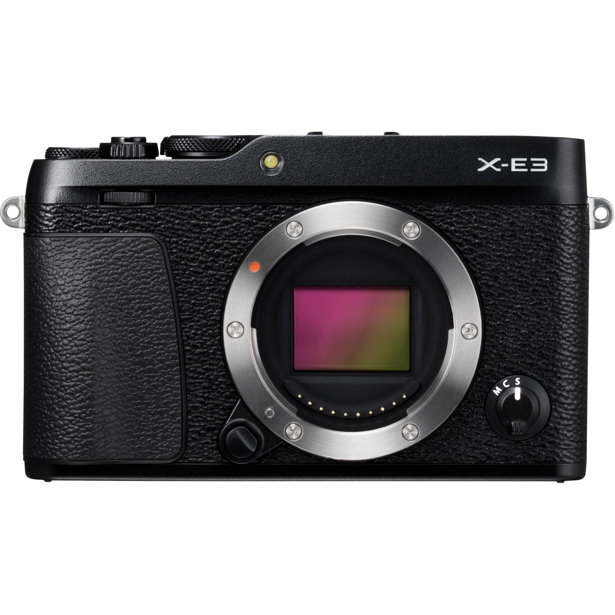 hight resolution of fujifilm x e3 mirrorless digital camera body only black