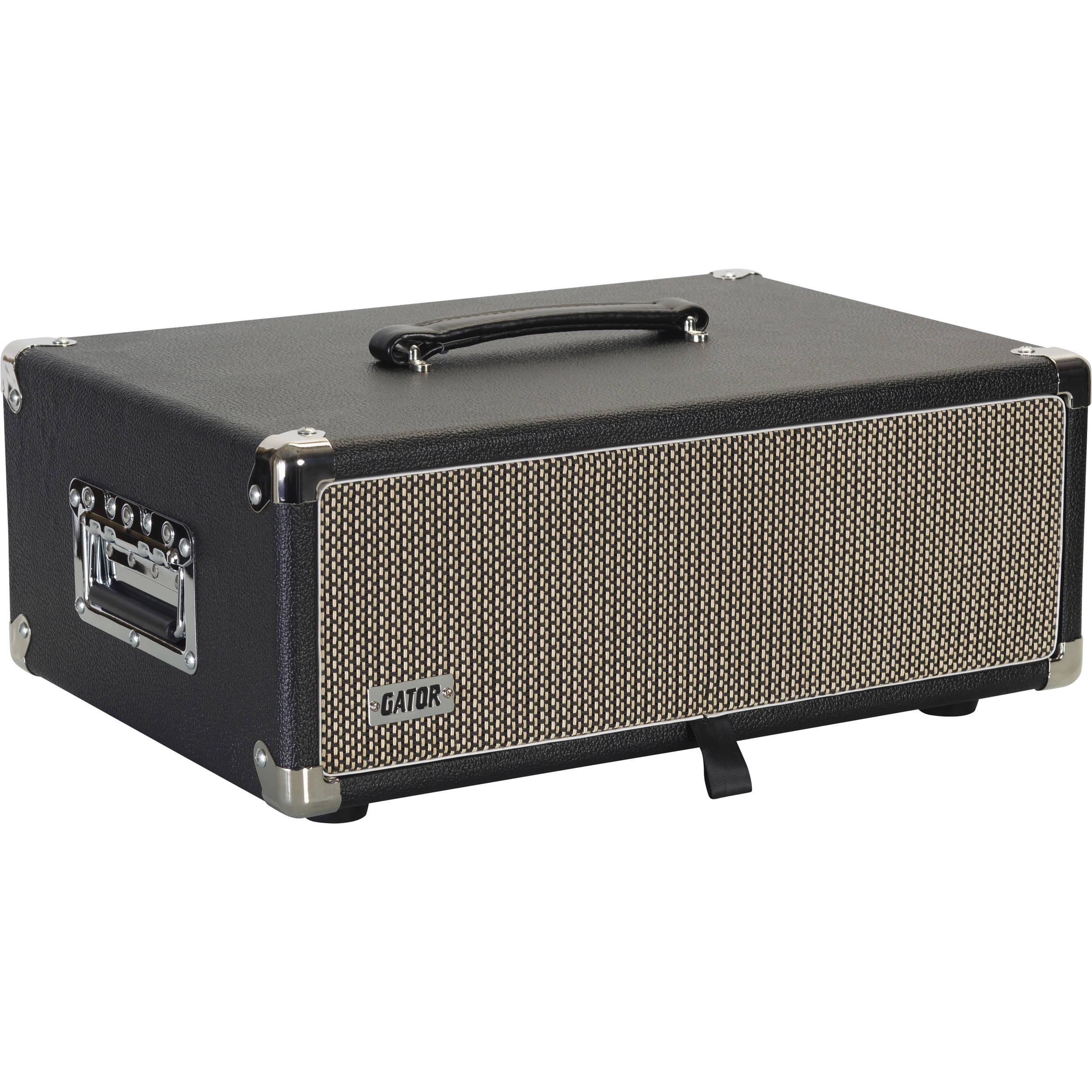 gator vintage amp vibe rack case 3u black
