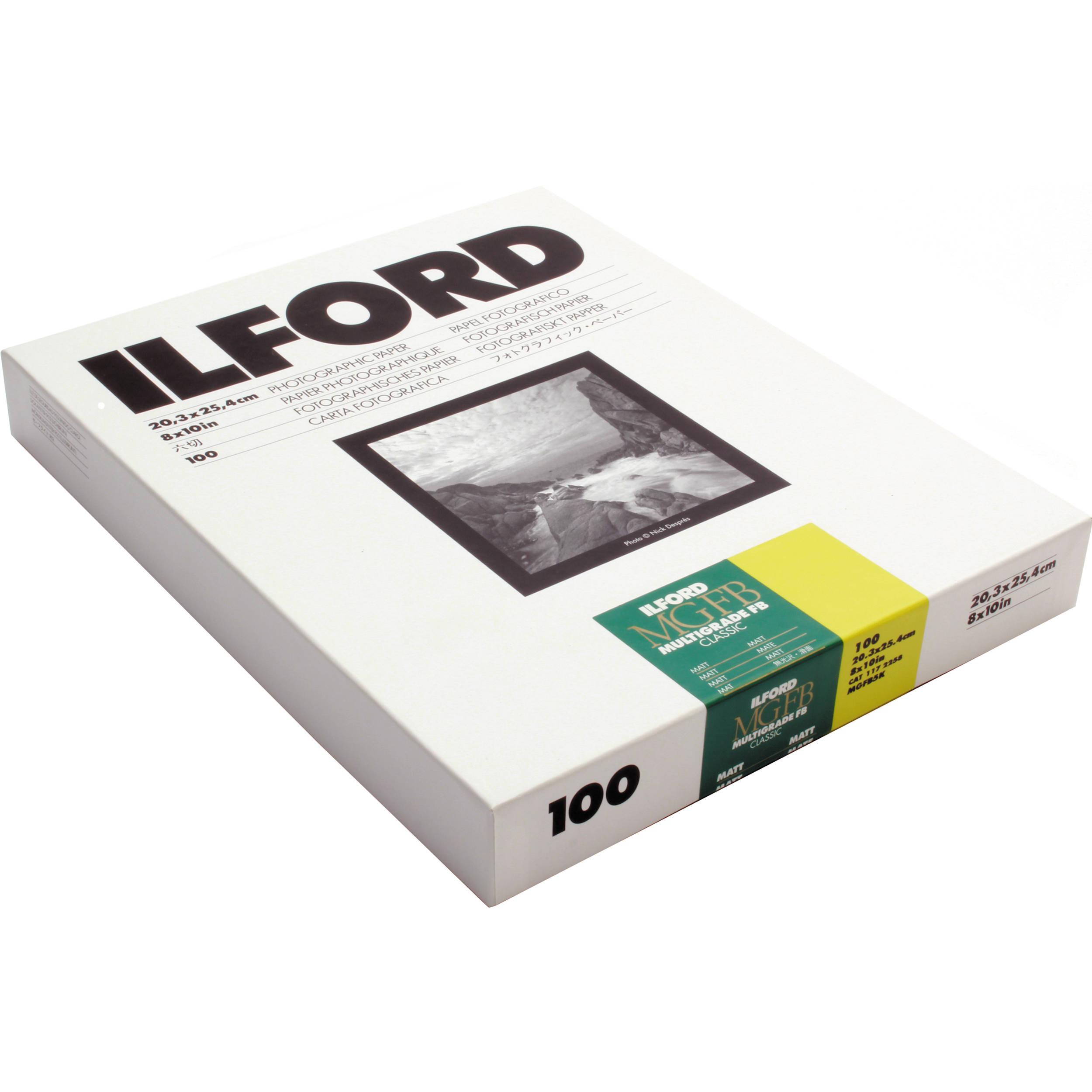 Ilford Multigrade Fb Classic Matt Variable Contrast B Amp H