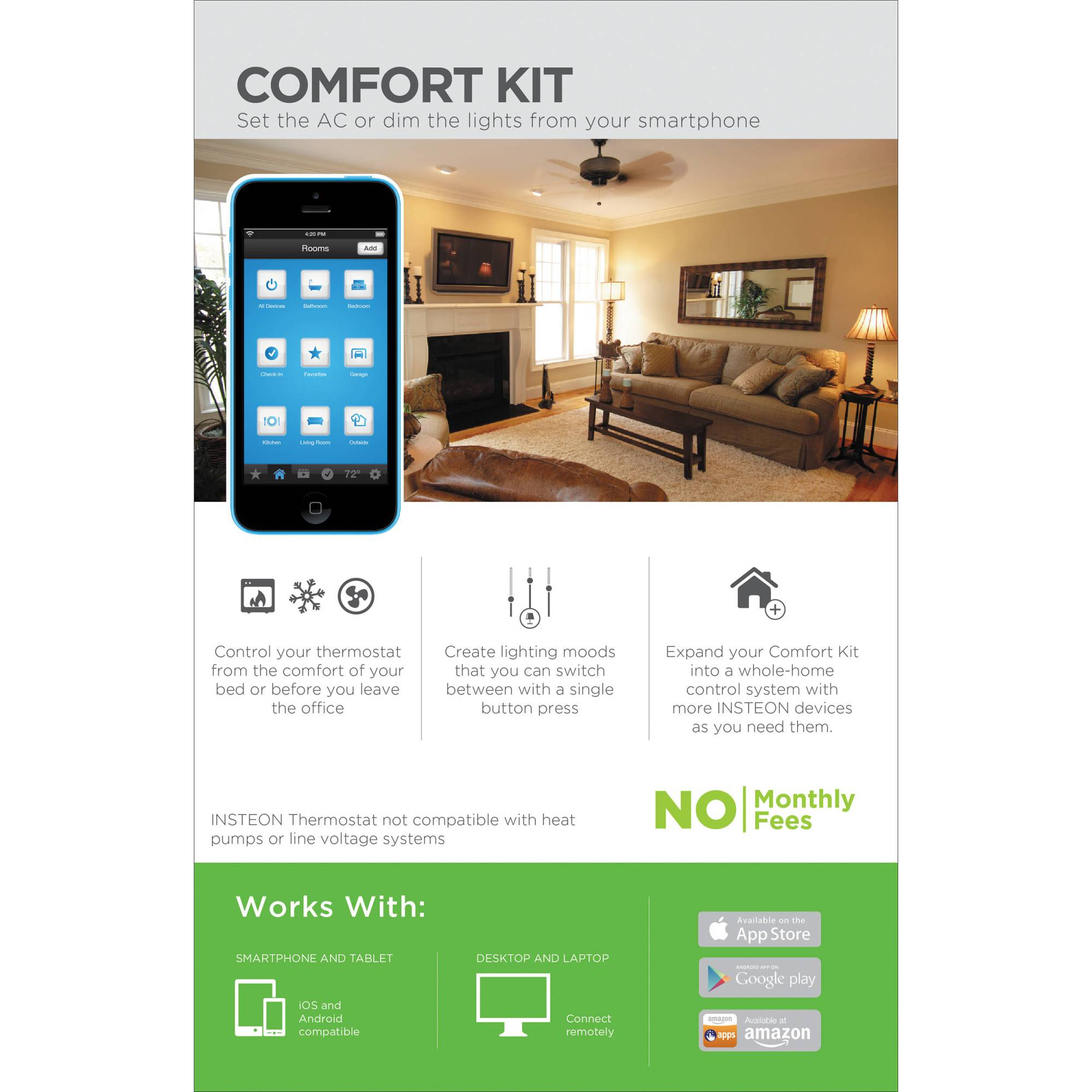 hight resolution of insteon comfort home automation kit