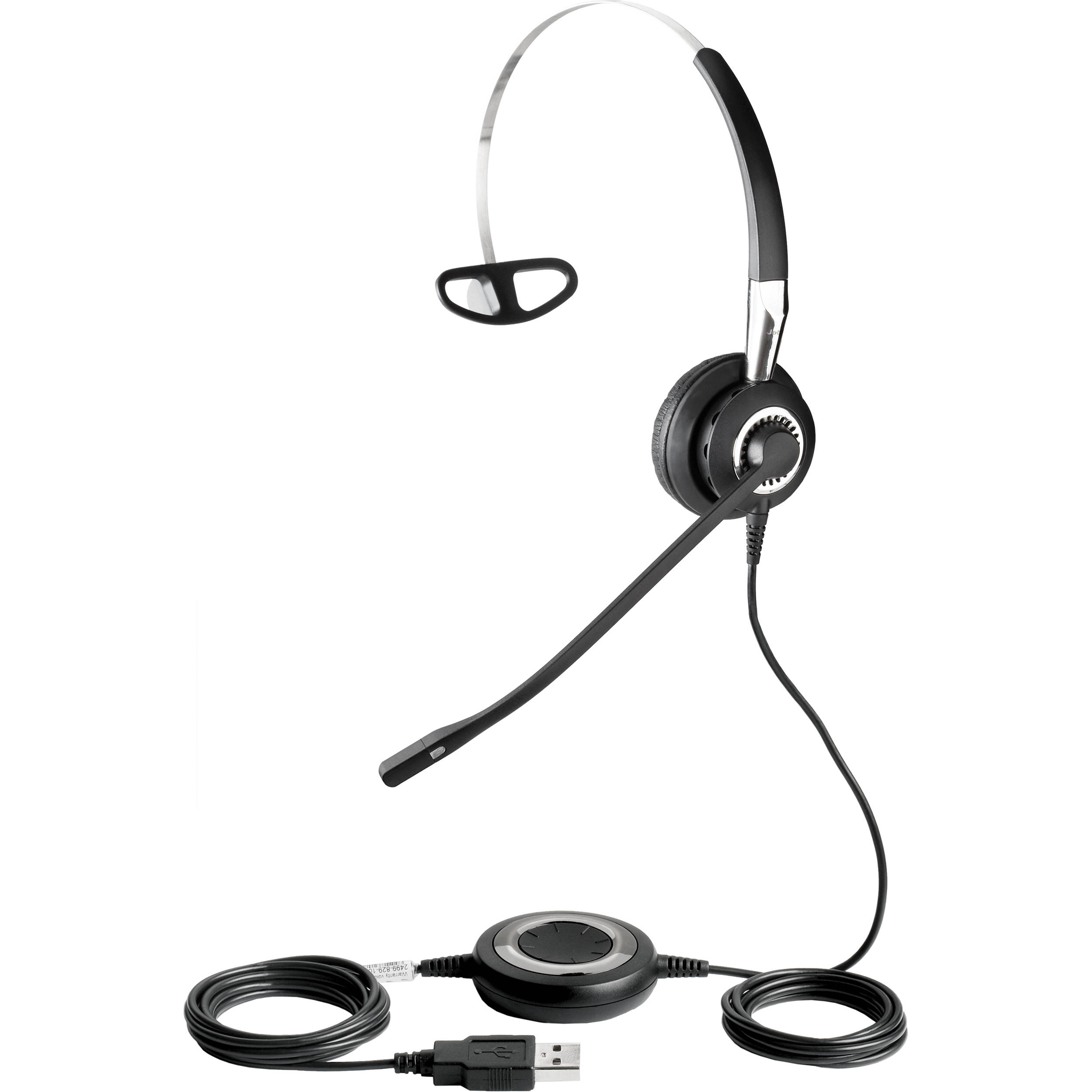 Jabra Biz 2400 USB Mono Headset 2496-829-105 B&H Photo Video