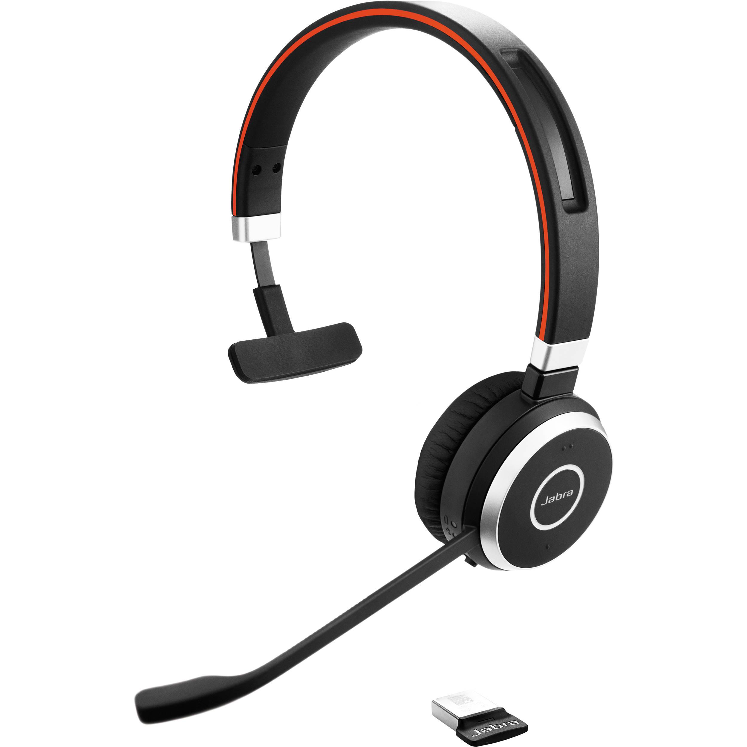 Jabra EVOLVE 65 UC Mono Bluetooth Headset 6593-829-409 B&H Photo