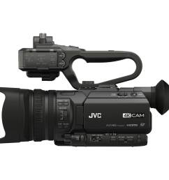 jvc gy hm170ua 4kcam compact professional camcorder with top handle audio unit [ 2500 x 2500 Pixel ]