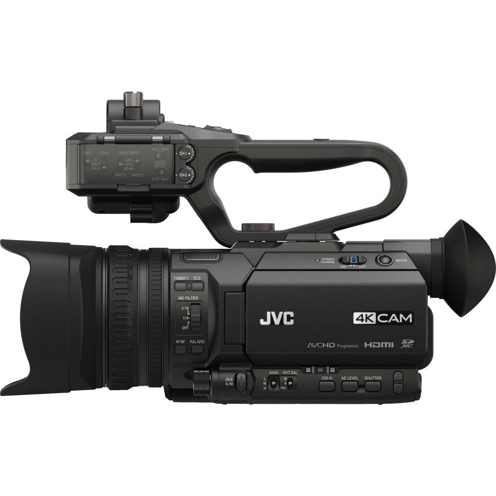 medium resolution of jvc gy hm170ua 4kcam compact professional camcorder with top handle audio unit