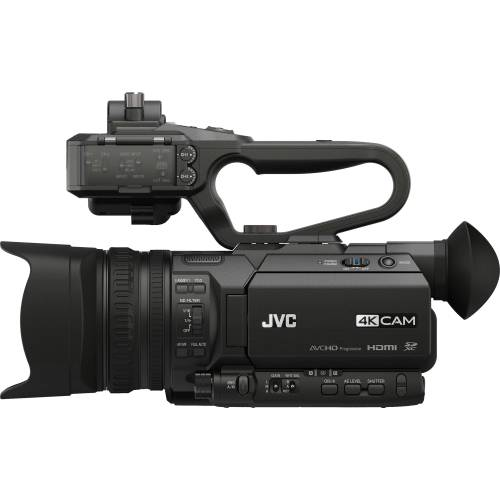 small resolution of jvc gy hm170ua 4kcam compact professional camcorder with top handle audio unit