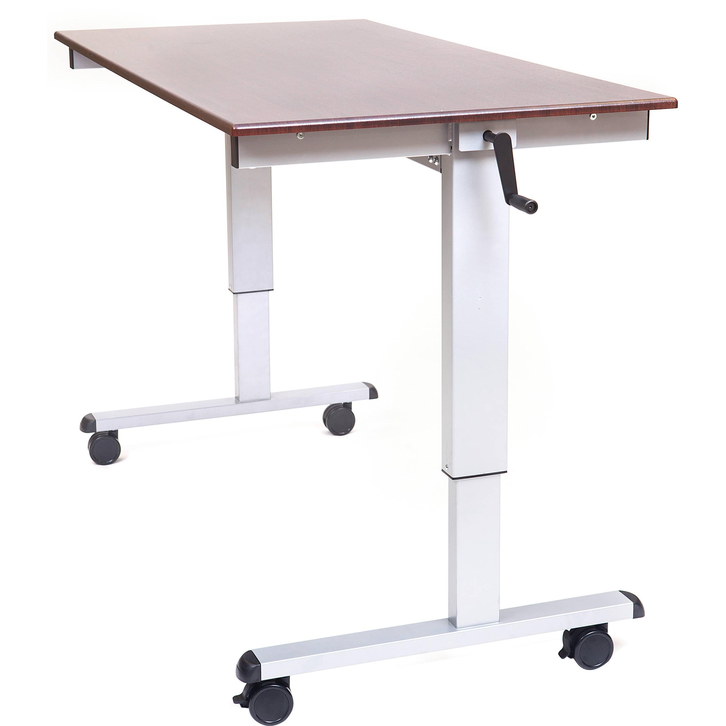 Luxor 60 Quot Crank Adjustable Stand Up Desk Standup Cf60 Dw