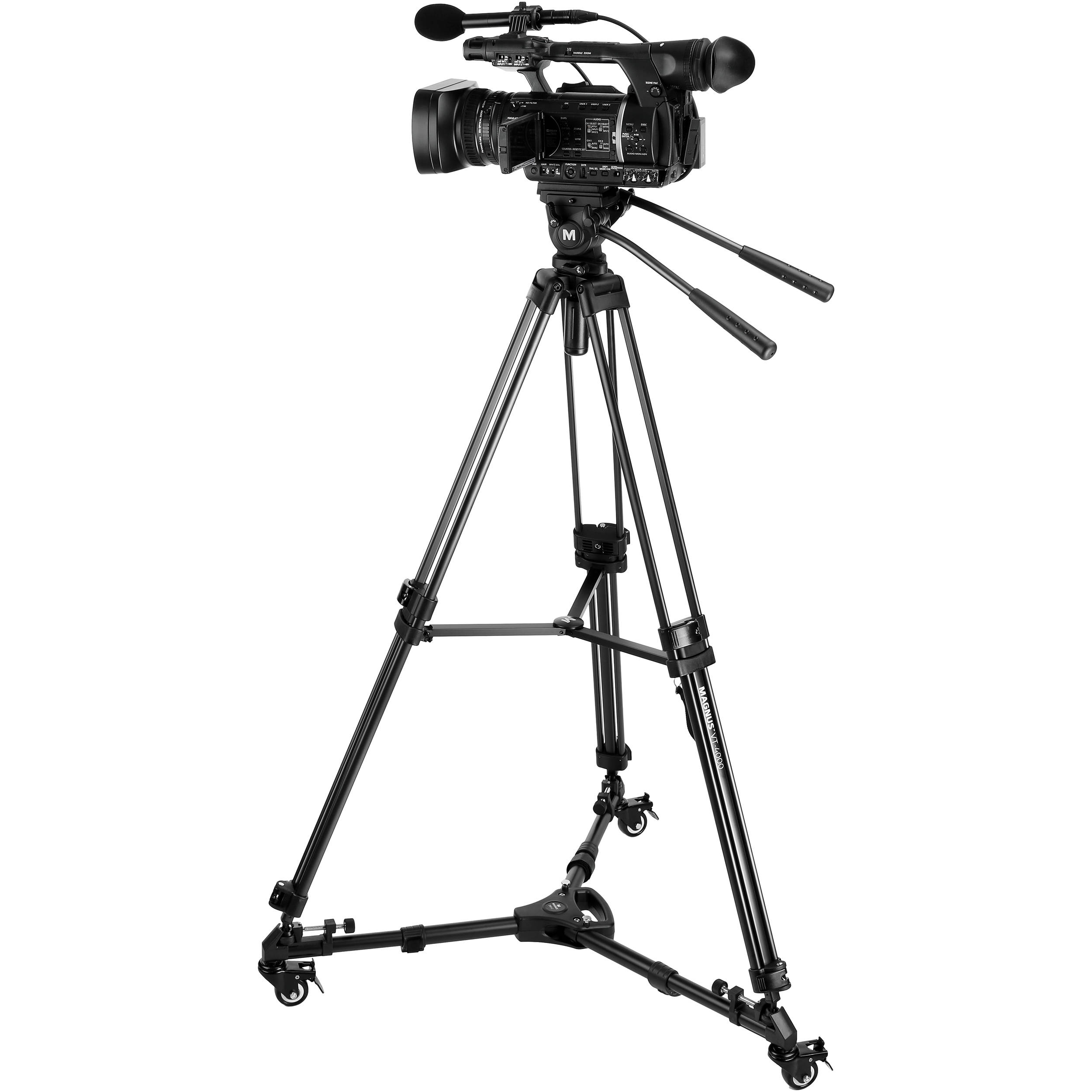 Magnus VT-4000 Tripod System Kit with Fluid Video VT-4000