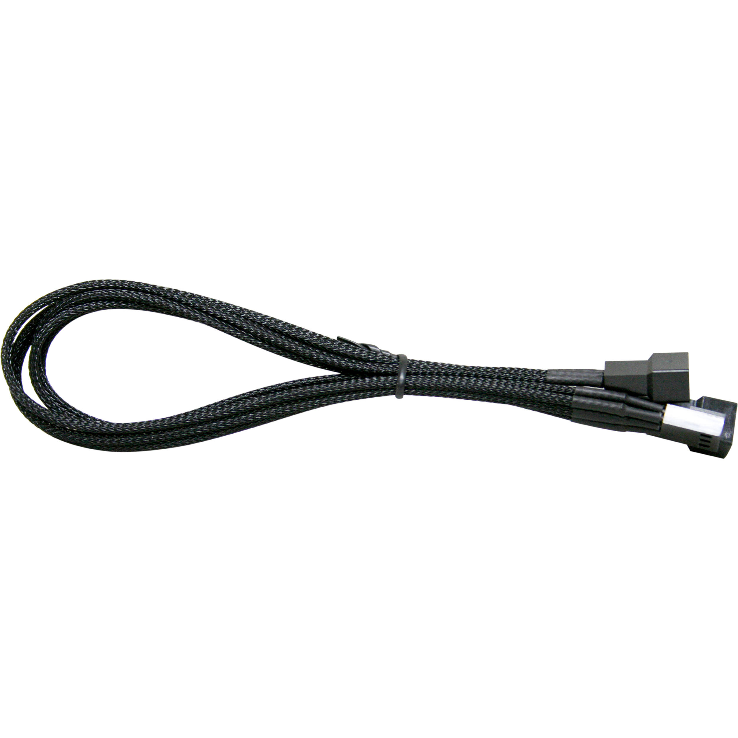 NZXT 3-Pin Fan Y-Sleeved Extension Cable (Black) CA-CB-3P