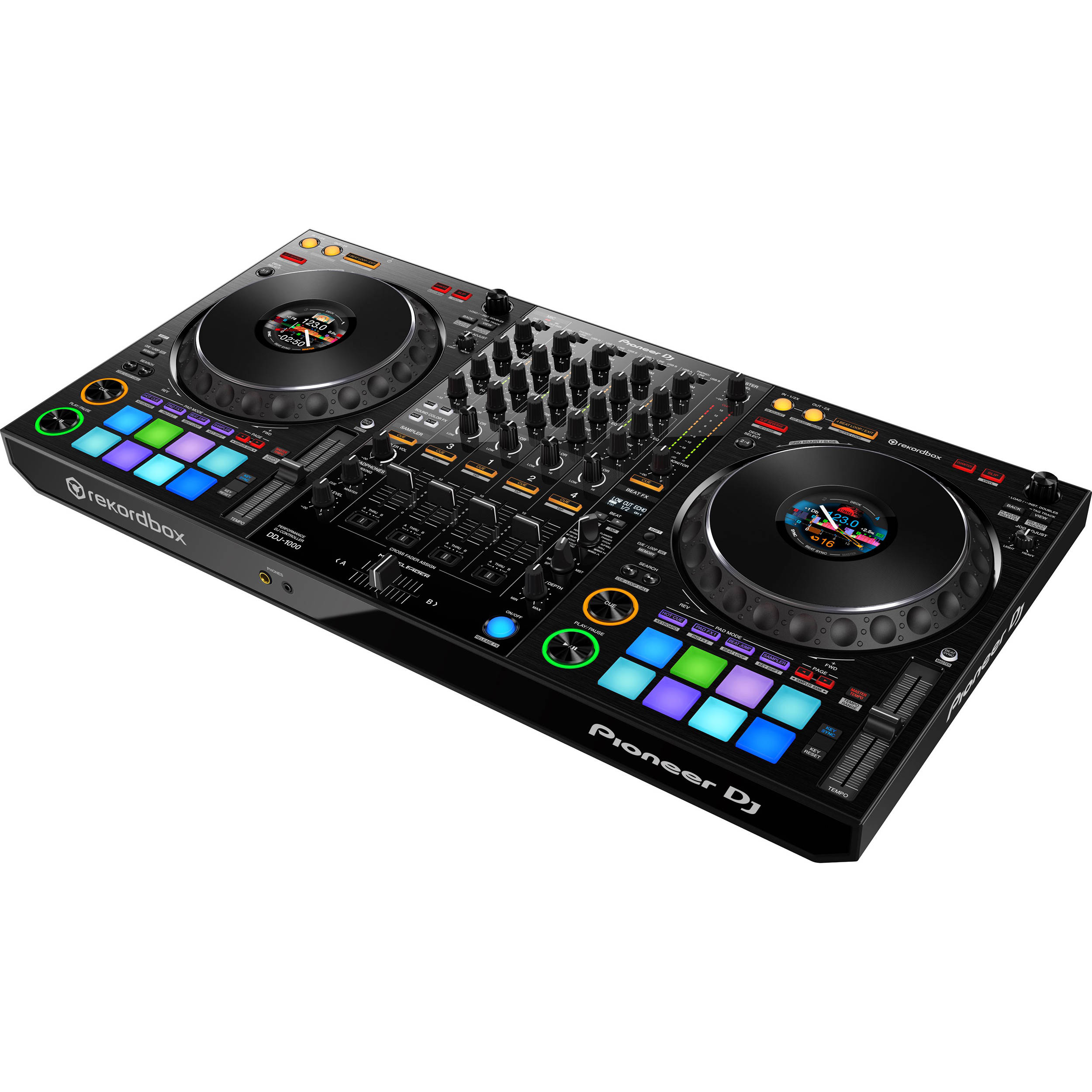 pioneer dj ddj 1000 4 channel rekordbox dj controller with integrated mixer
