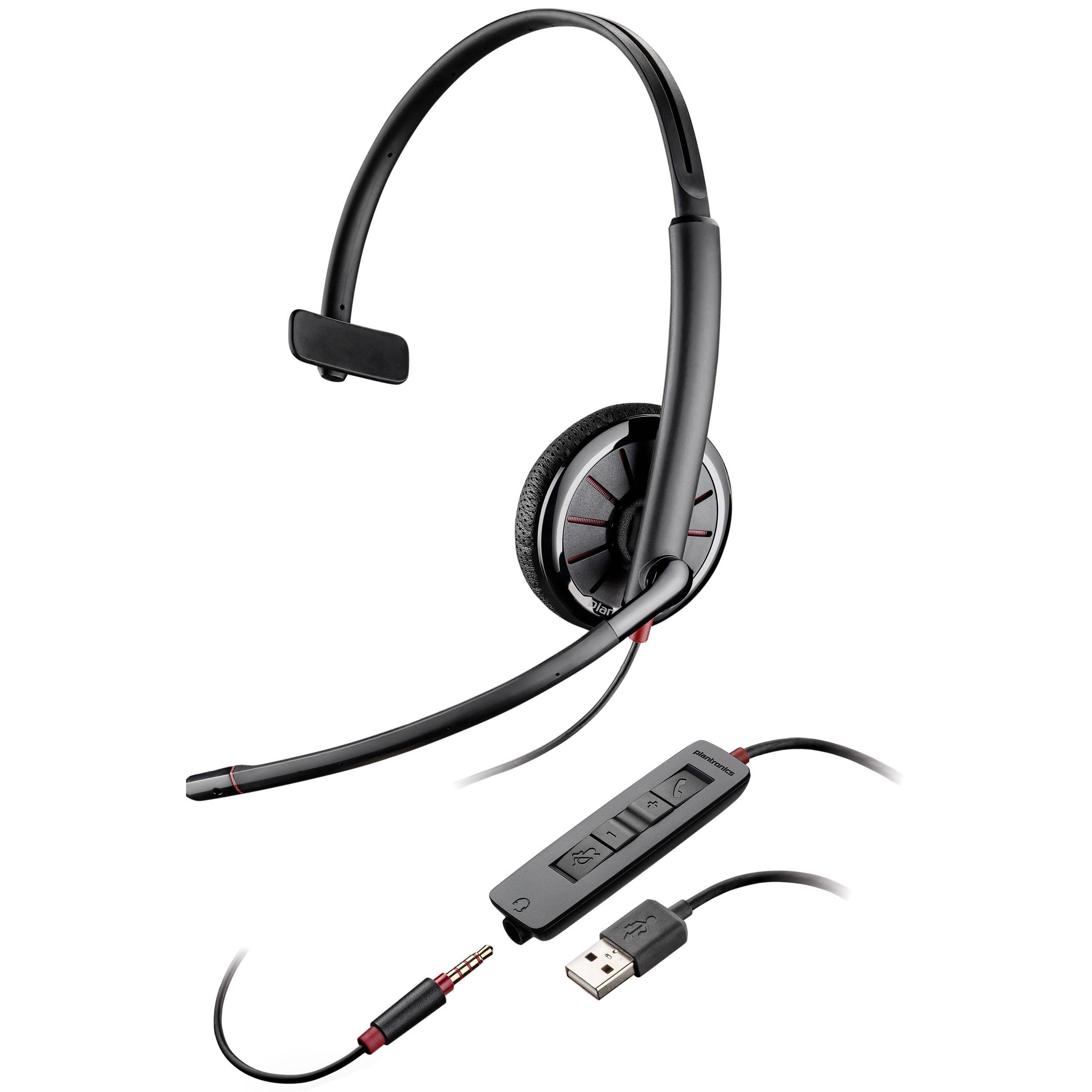 Plantronics Blackwire 315 Monaural Headset 02 B Amp H Photo