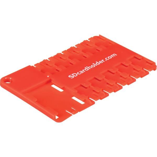 SD Card Holder microSD 10 Slot Cardholder Red 040110RR BH
