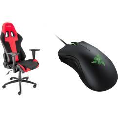 Razer Gaming Chair Modern Reclining Spieltek Berserker Deathadder Mouse Kit Black