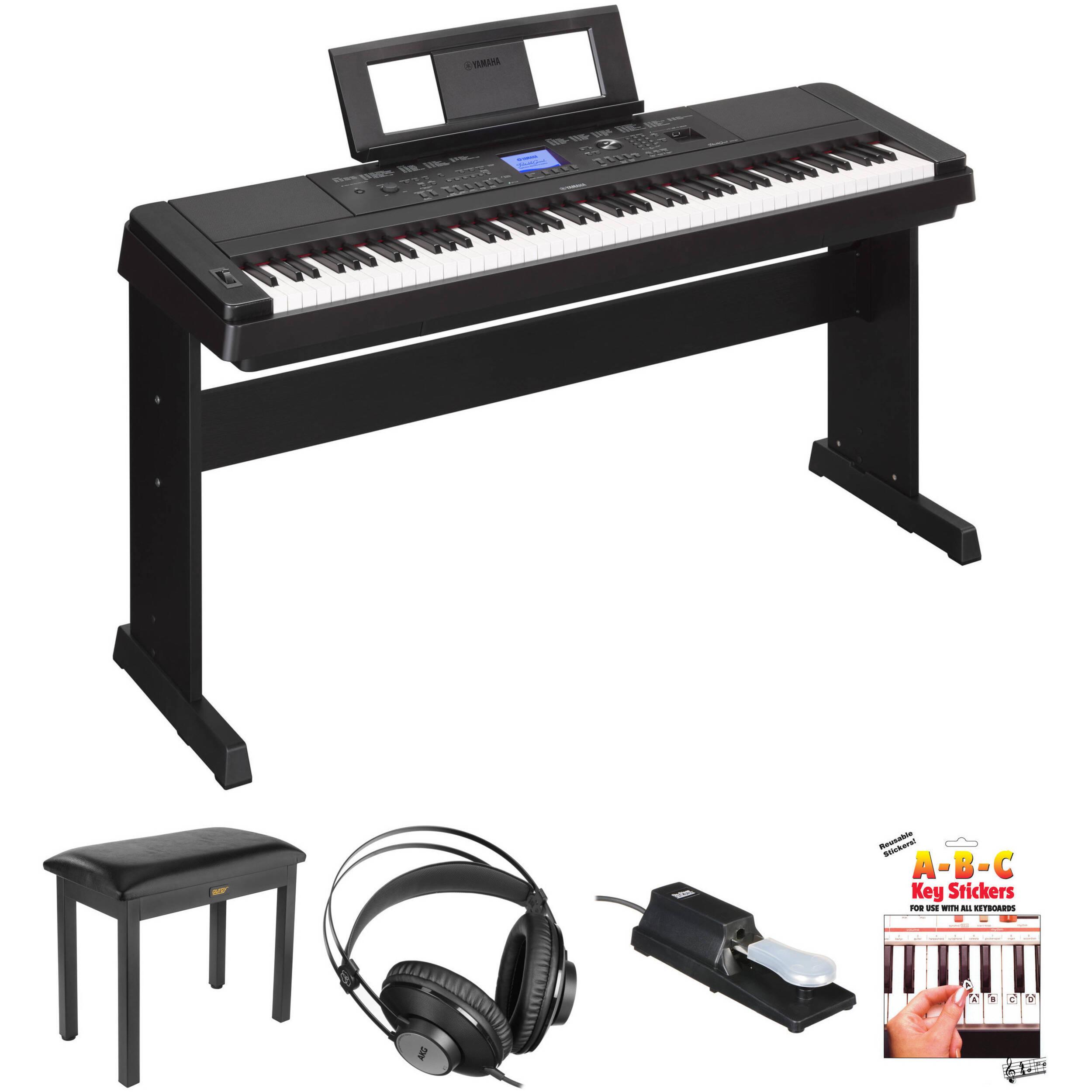 Yamaha DGX-660 88-Key Digital Piano Kit with Bench, Pedal
