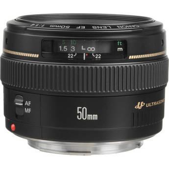 Canon 50mm f/1.4 USM Autofocus Lens