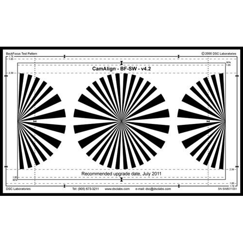 DSC Labs Backfocus Standard Focus Pattern Chart BFST B&H Photo