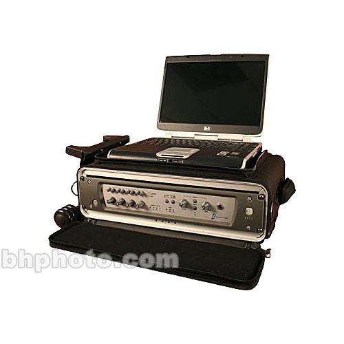gator gsrw 2u studio 2 go wheeled carrying case for laptop and 2u rack mount recording device