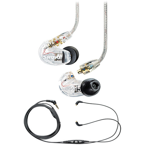 Shure SE215 Sound-Isolating In-Ear Stereo Earphones (Clear
