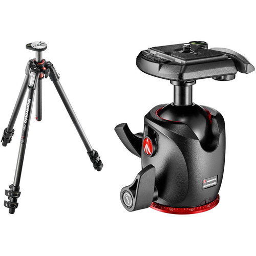 Manfrotto MT190CXPRO3 Carbon Fiber Tripod Kit with MHXPRO-BHQ2