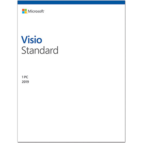Microsoft Visio Standard 2019 D86-05829 B&H Photo Video