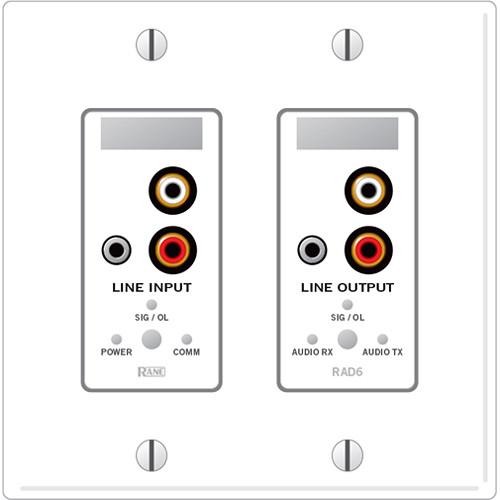 Rane RAD6 Remote Audio Device (White) RAD6W B&H Photo Video