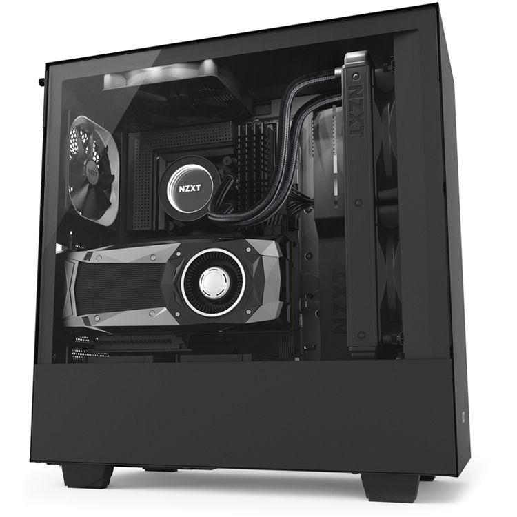 NZXT H500i Mid-Tower Case (Black) CA-H500W-B1 B&H Photo Video
