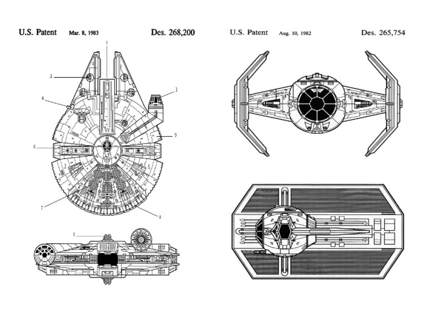 Star Wars Patent Art Duo