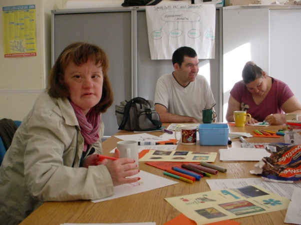The self-advocacy groups are for adults with learning disabilities